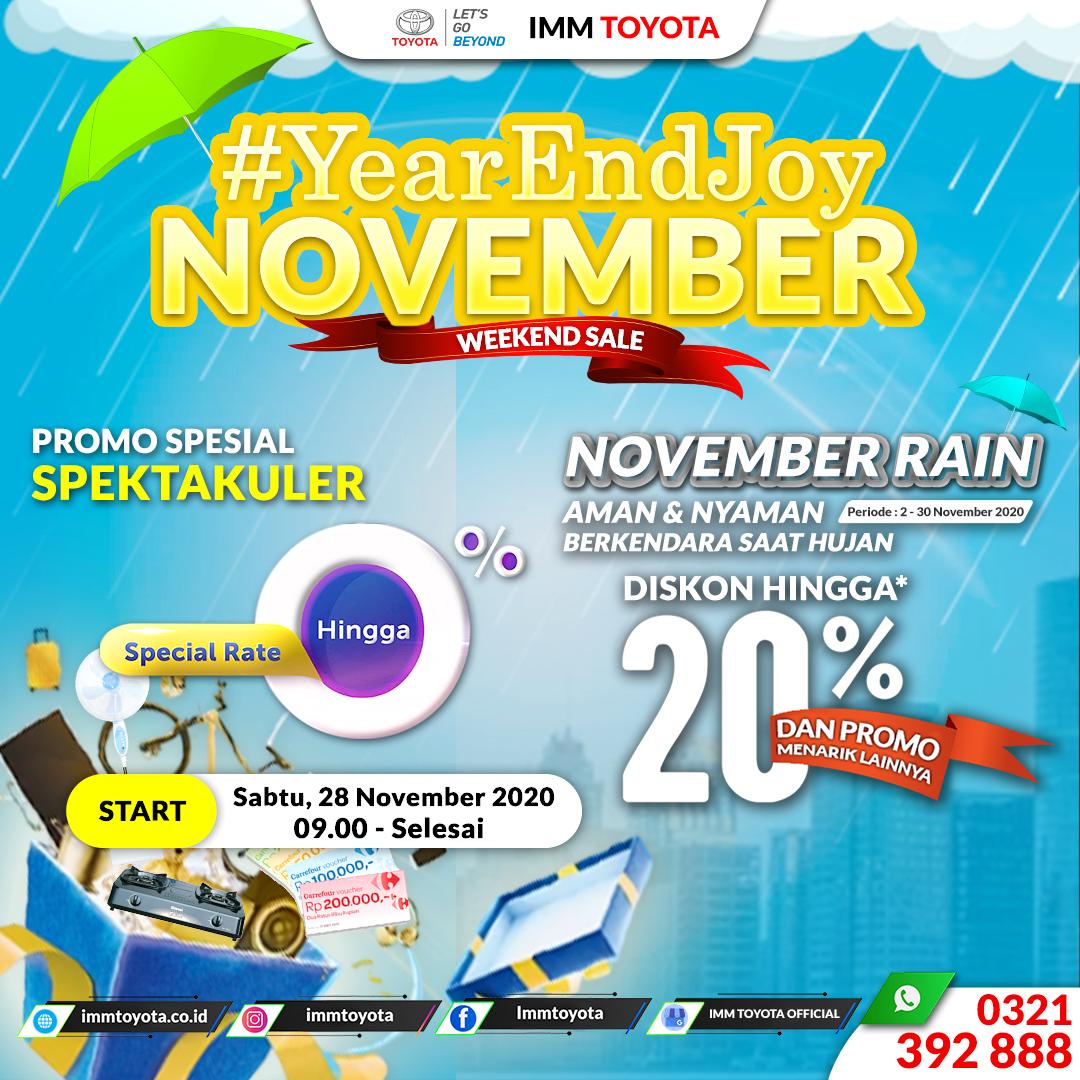 #YearAndJoy November Weekend Sales