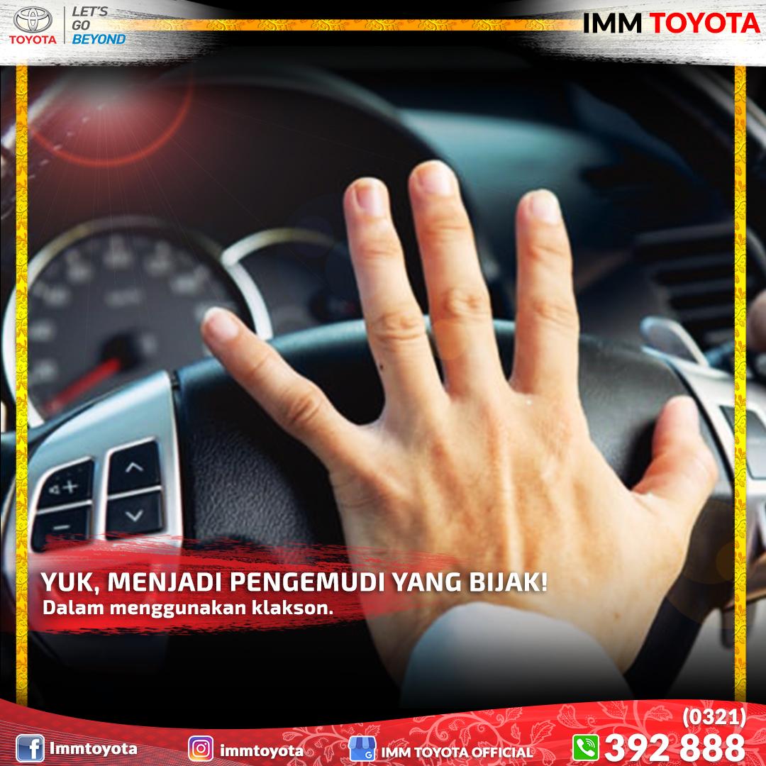 Yuk, jadi pengemudi yang bijak! dalam penggunaan klakson.