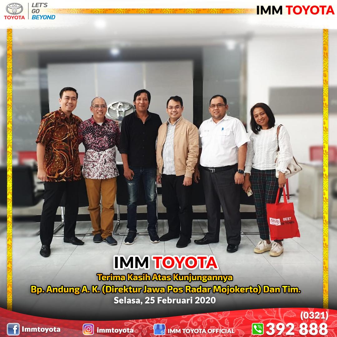 Kunjungan Management Jawa Pos Radar Mojokerto di IMM TOYOTA.