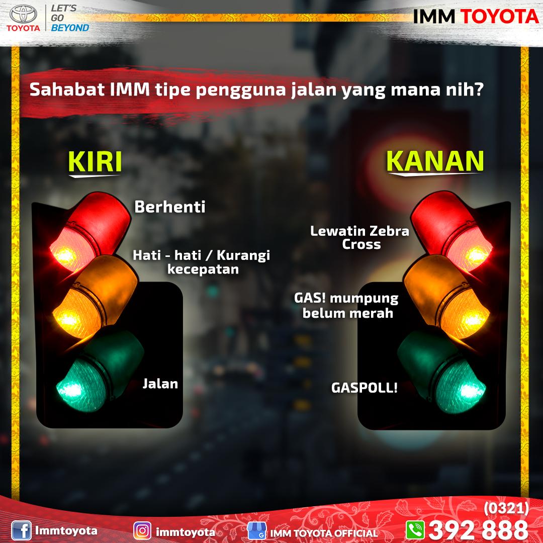 Tipe pengendara saat bertemu lampu lalu lintas.