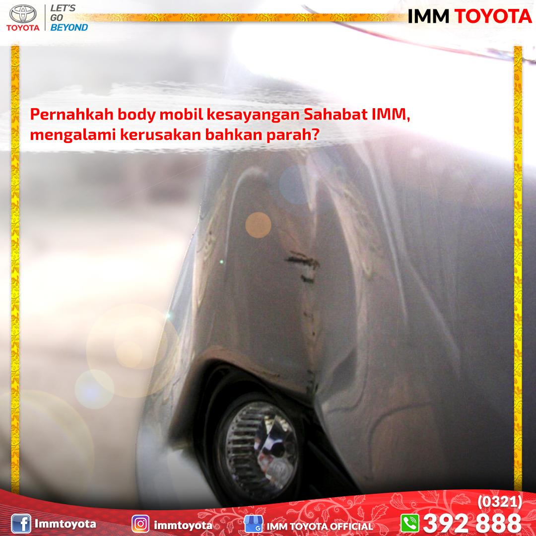 Pernahkah Sahabat IMM mengalami body mobil kesayangan Anda rusak karena tersenggol pengendara lain di jalan?