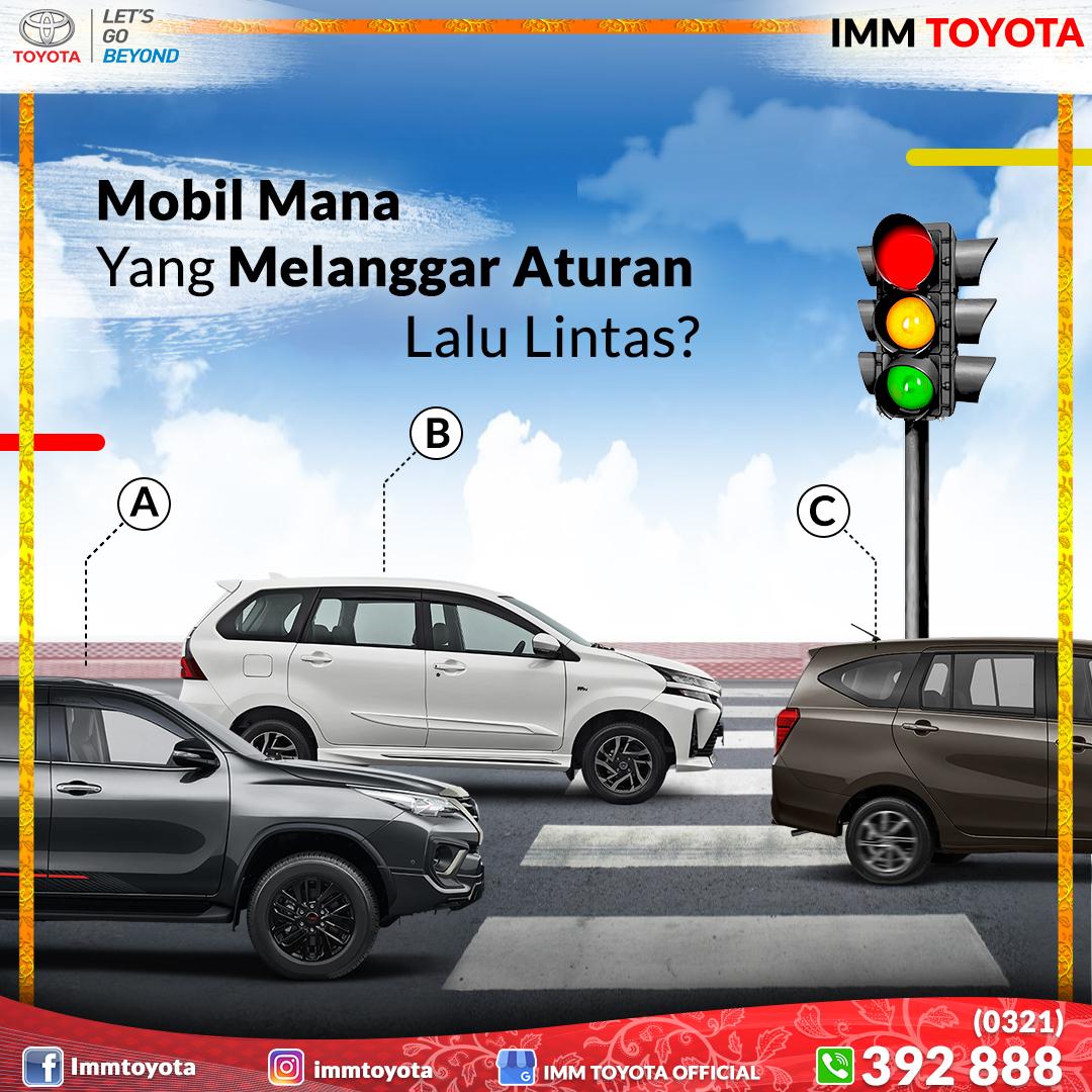 Quiz time! Mobil mana tang melanggar aturan lalu lintas?