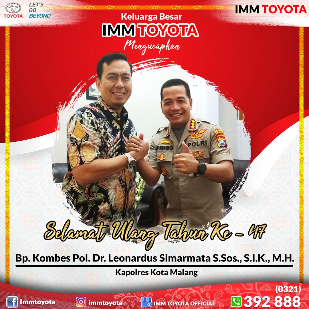 Selamat Ulang Tahun Bp. Kombes Pol. Dr. Leonardus Simarmata S.Sos., S.I.K., M.H. (Kapolres Kota Malang).