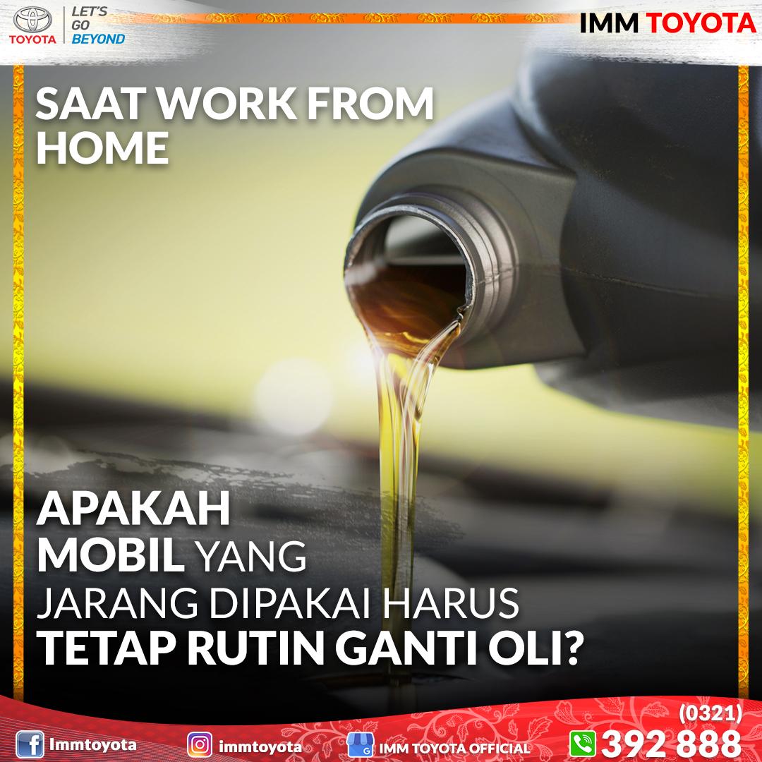 Apakah mobil yang jarang dipakai harus tetap rutin ganti oli?