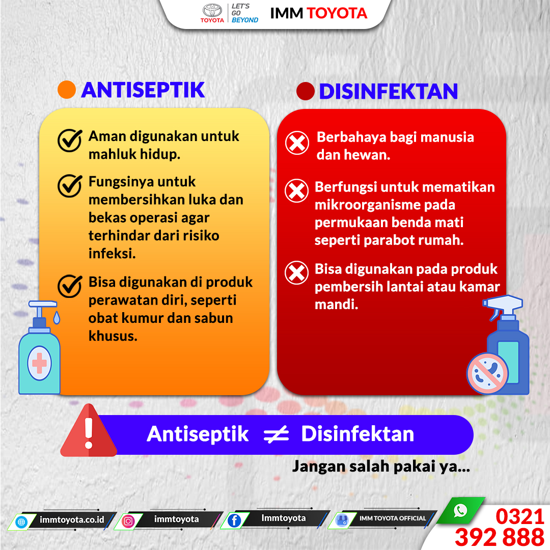 Antiseptik atau Disinfektan?
