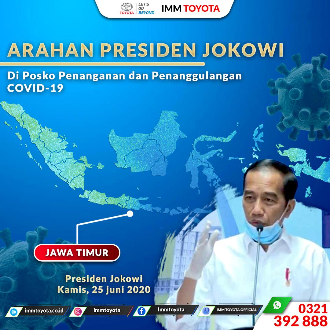 Arahan Presiden Jokowi Di psko penanggulangan Covid - 19.
