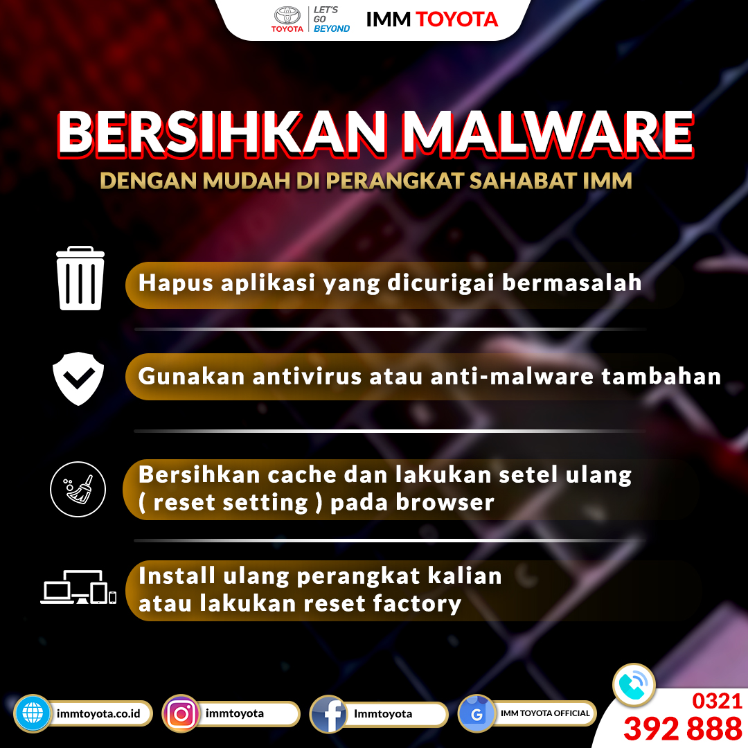Bersihkan Malware Di Ponsel Anda.