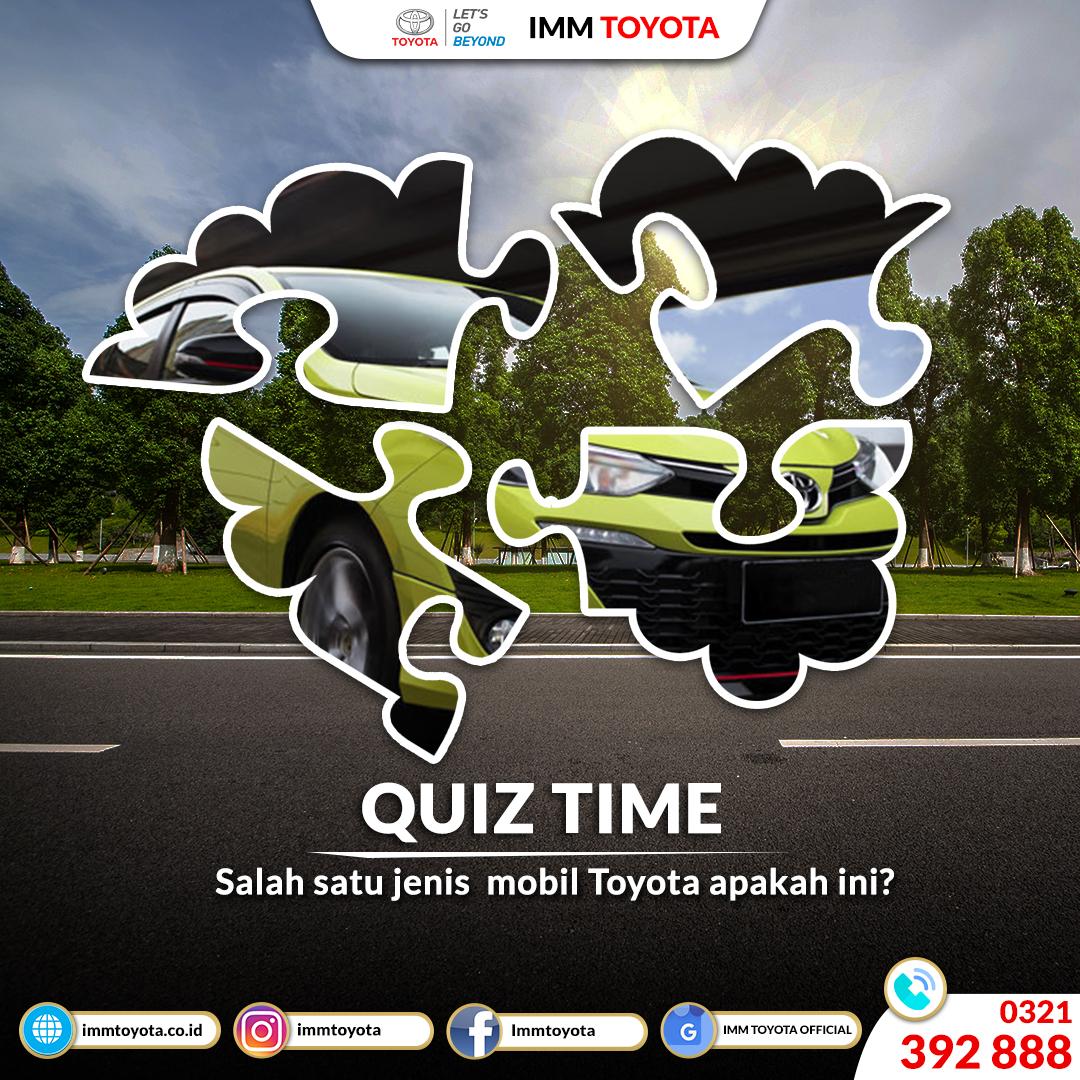 Quiz Time! Tipe Mobil Toyota Apakah Ini?