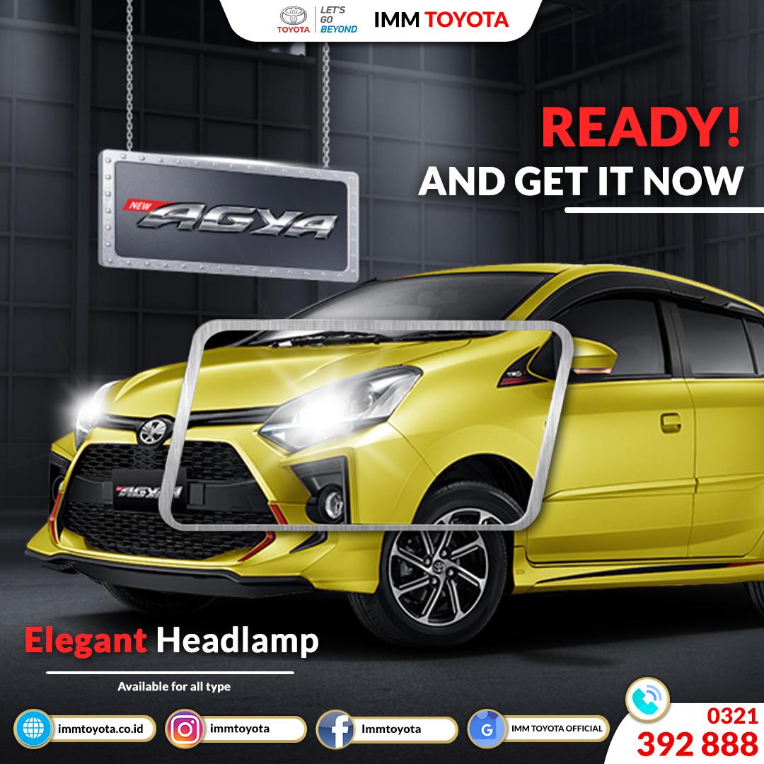 Elegant Headlamp Toyota Agya. Tampilan Menjadi Makin Stylish.