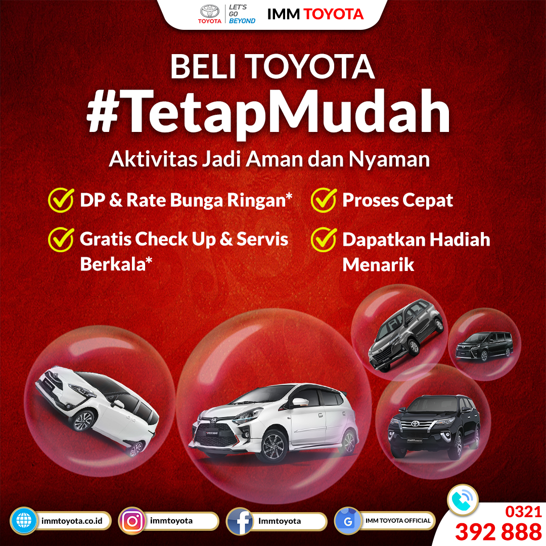 Beli Toyota Tetap Mudah! Aktivitas Menjadi Aman