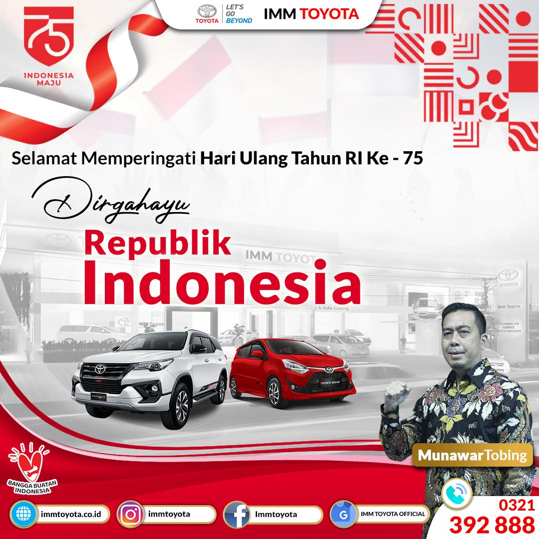Dirgahayu Republik Indonesia Ke-75