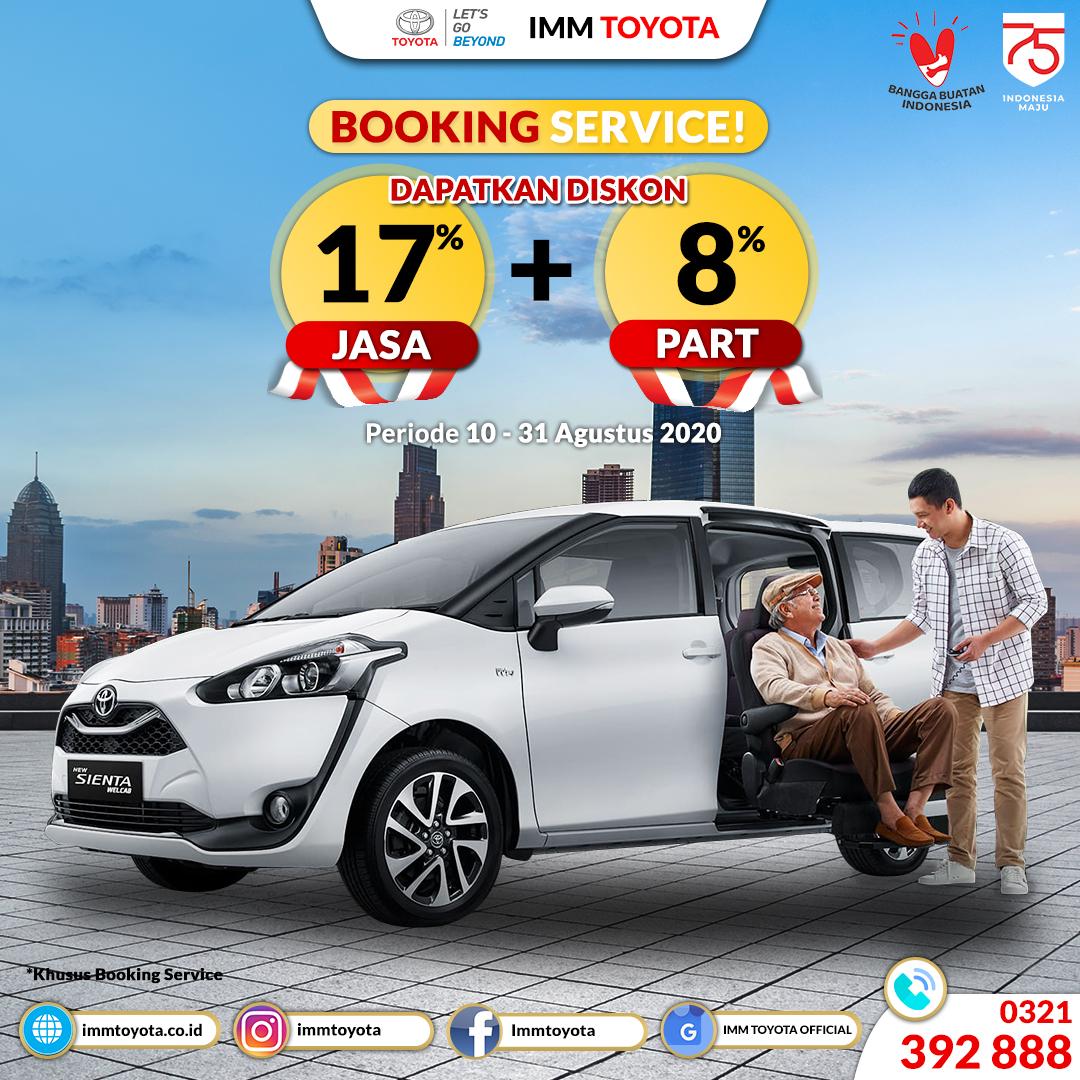 Dapatkan Segera Promo Booking Perawatan Kendaraan Anda di IMM TOYOTA.