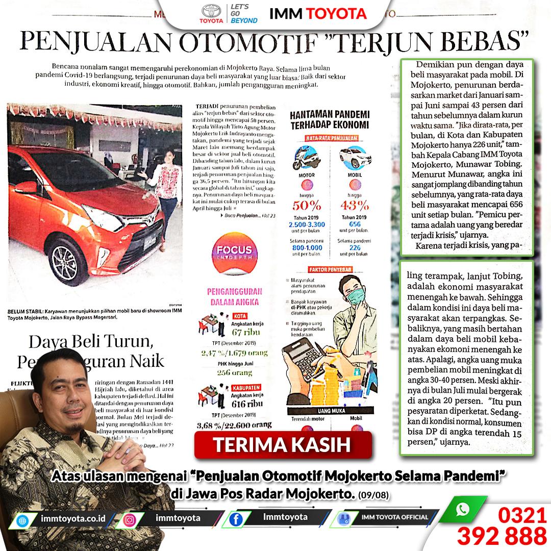"Terima kasih atas ulasan mengenai ""Otomotif Mojokerto Selama Pandemi"" di Jawa Pos Radar Mojokerto."