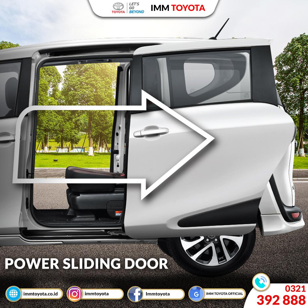 Power Sliding Door Toyota Sienta. Memberikan Kemudahan Penumpang Belakang Keluar Masuk Kabin.