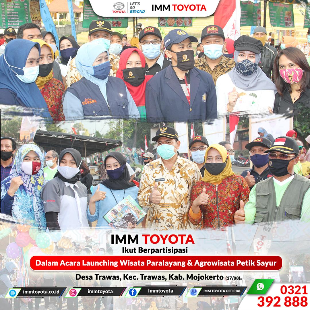 IMM TOYOTA Ikut Berpartisipasi Dalam Launching Wisata Paralayang dan Agrowisata Petik Sayur Trawas (27/08).