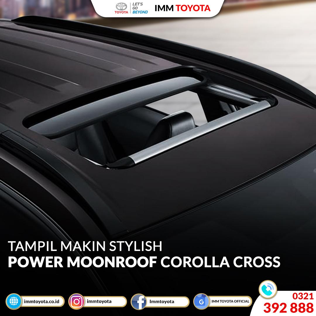 Tampil makin stylish karena ada power moonroof di New Corolla Cross