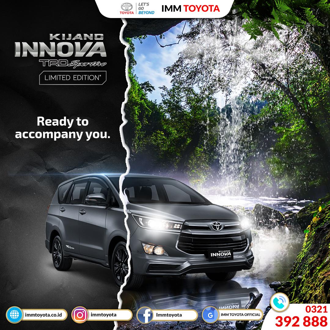 Ready to accompany you. Toyota Innova TRD Sportivo.
