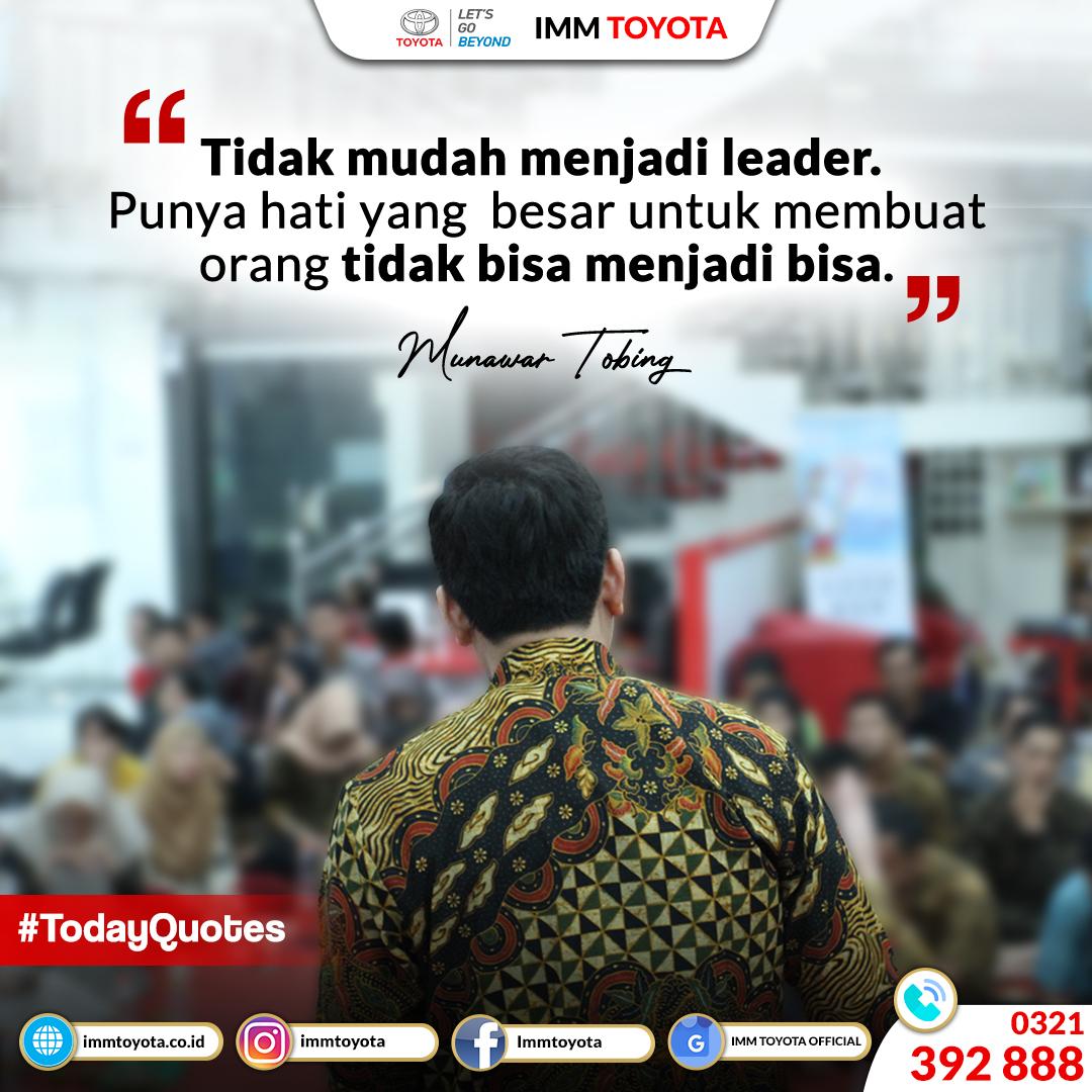 Tidak mudah menjadi leader. Punya hati yang besar untuk membuat orang tidak bisa menjadi bisa.