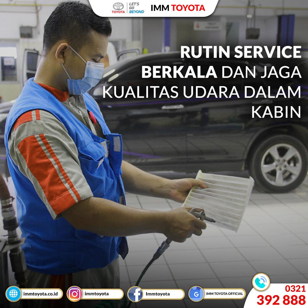 Rutin service berkala dan jaga kualitas udara dalam kabin.