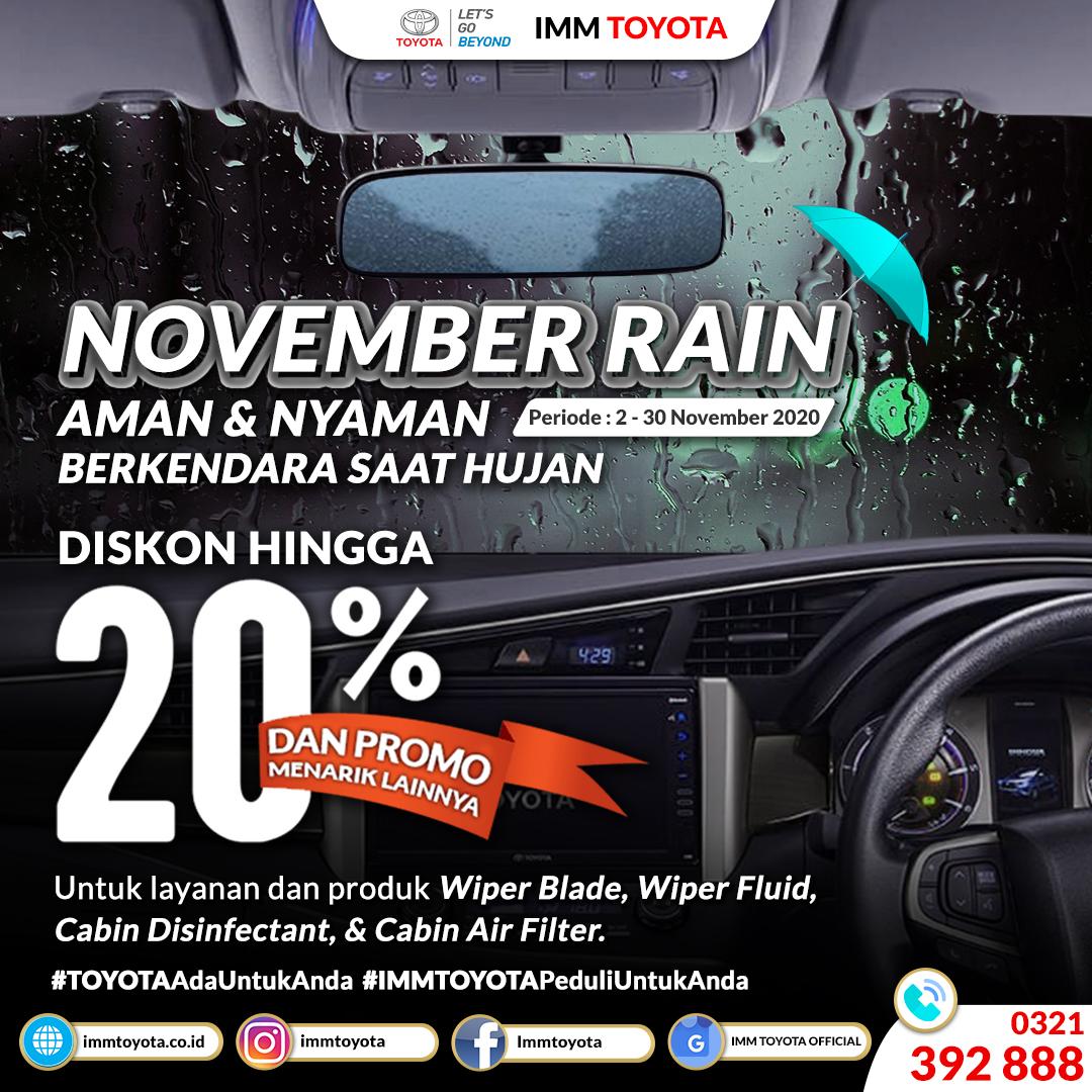 November Rain! Aman & Nyaman Berkendara Saat Hujan.