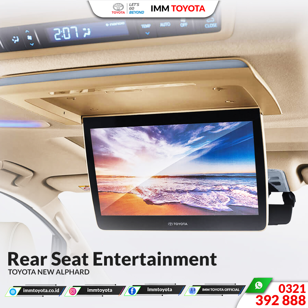 Rear seat entertainment Toyota New Alphard