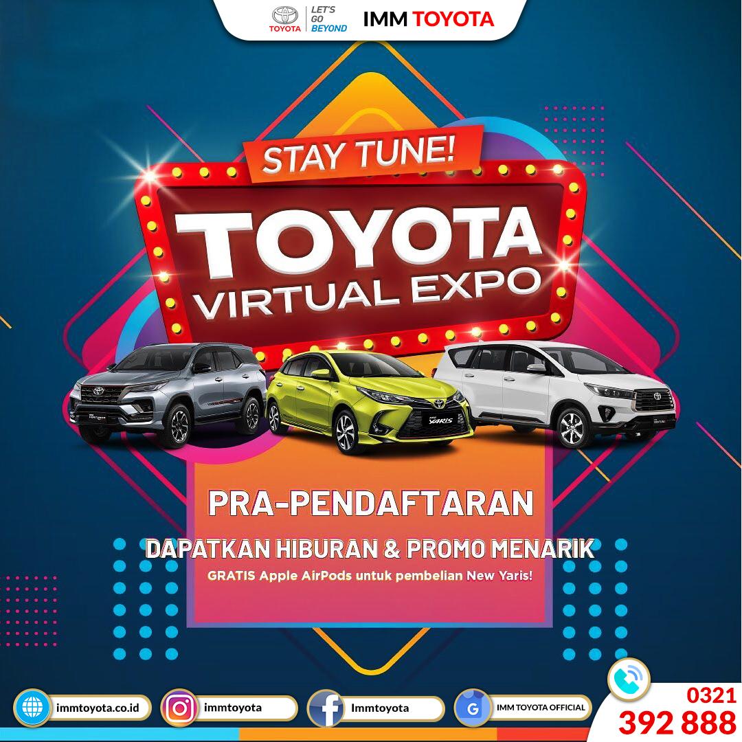 Toyota Virtual Expo hadir lagi di tanggal 20 -22 November!