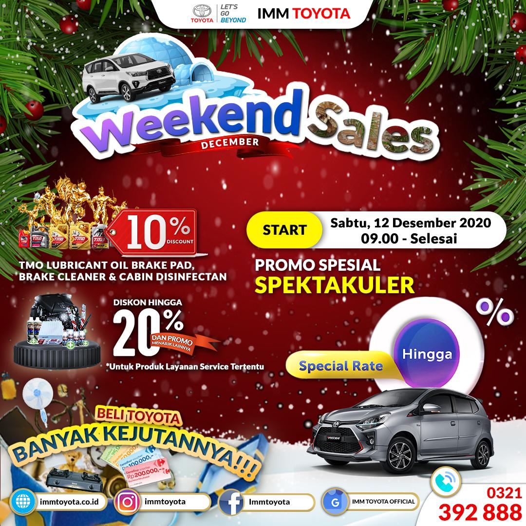 #YearAndJoy December Weekend Sales