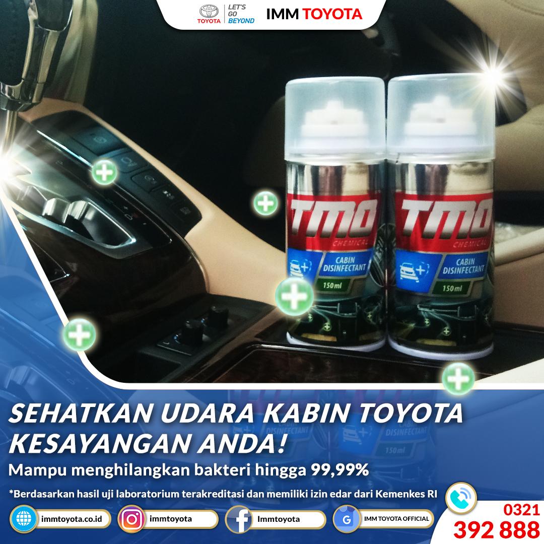 Sehatkan Kabin Toyota Kesayangan Anda!