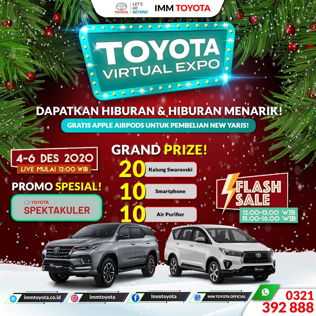 Toyota Virtual Expo hadir lagi di tanggal 04 - 06 Desember!