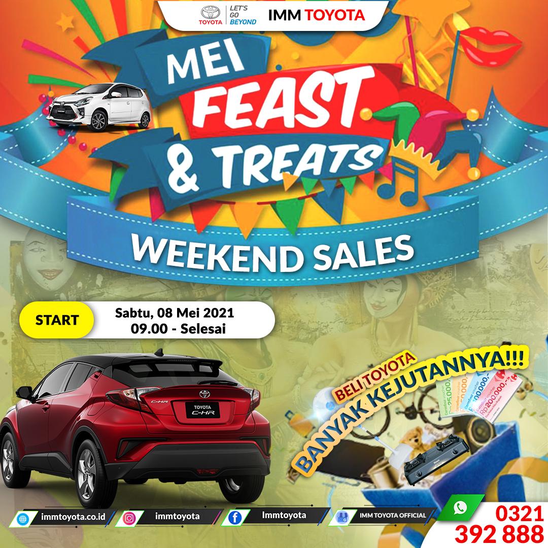 #FeastnTreats Mei 2021 Weekend Sales