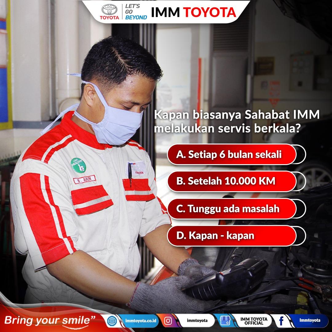 Kapan nih Sahabat IMM biasanya melakukan service berkala?