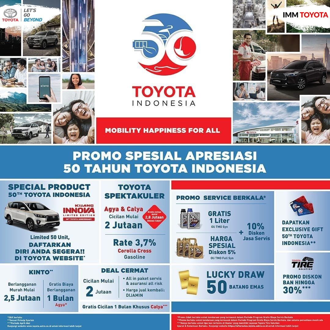 Ada yang spesial di 50 tahun Toyota Indonesia!