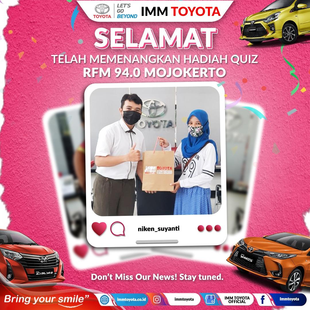 Selamat! Ini pemenang hadiah quiz RFM 94.0 Mojokerto